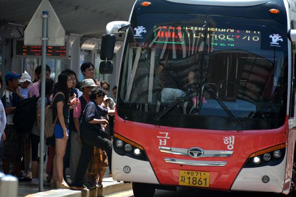 釜山1000番急行バス