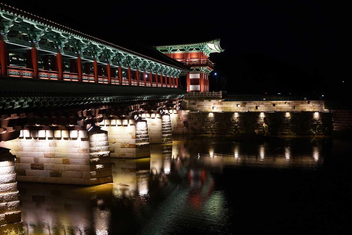 慶州月精橋の夜景